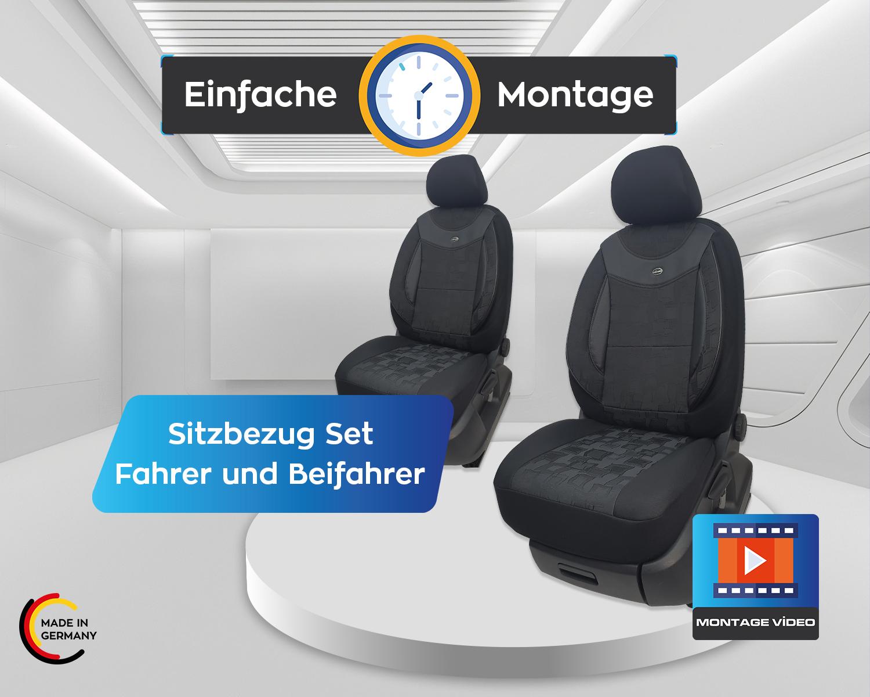 Audi A4 B8 2008-2015 MAß Schonbezüge Sitzbezüge Fahrer /& Beifahrer 05