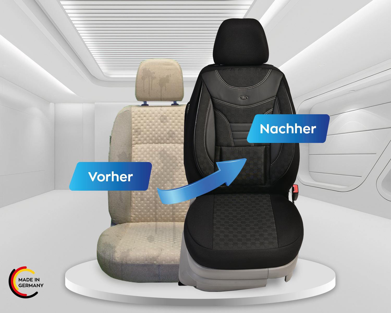 2010 Maß Schonbezüge Sitzbezüge Fahrer /& Beifahrer 04 7P ab Bj VW TOUAREG II