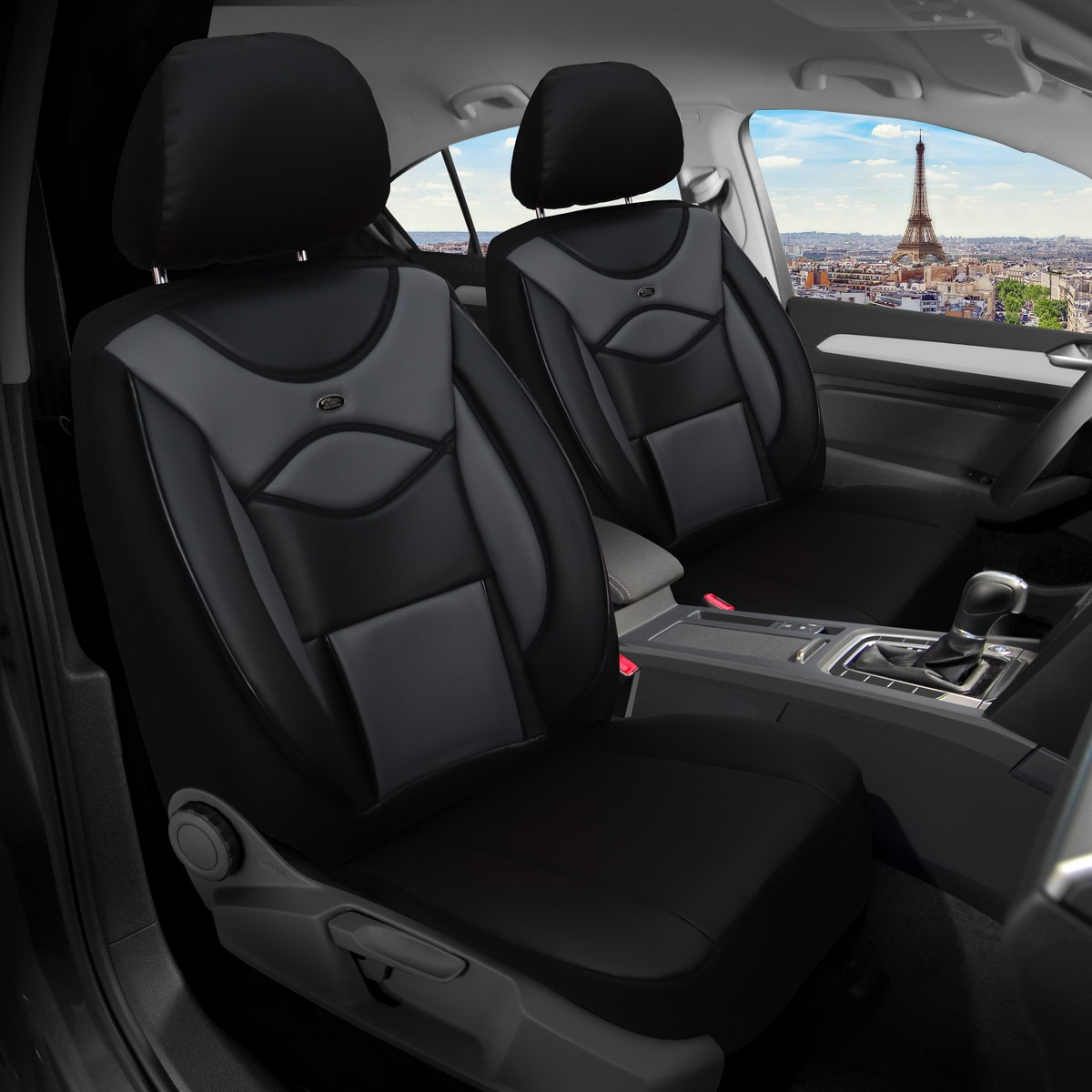 Maß Sitzbezüge Volvo V50 Fahrer /& Beifahrer ab 2004-2012 FB:D101