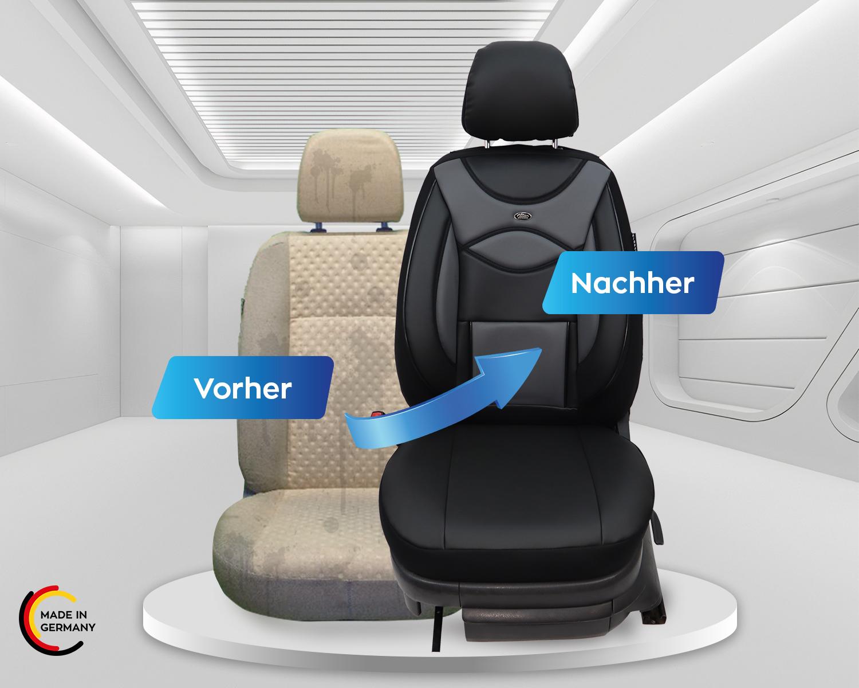 Maß Sitzbezüge Audi Q5 FY Fahrer /& Beifahrer ab 2017 FB:D101