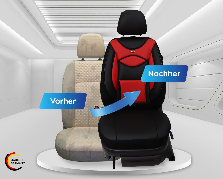Maß Sitzbezüge Jeep Wrangler JK Fahrer /& Beifahrer ab 2007-2018 FB:D102