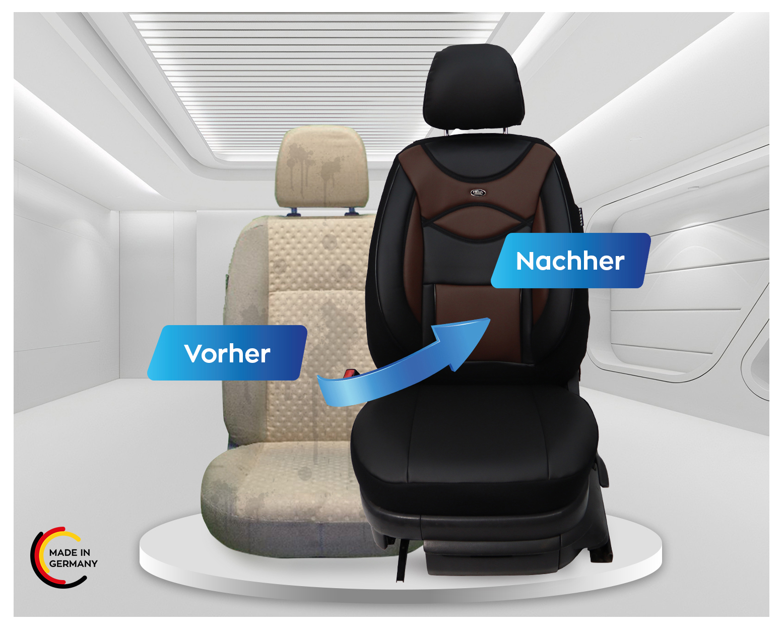 FORD FOCUS Schonbezüge Sitzbezug Sitzbezüge Fahrer /& Beifahrer Kunstleder D106