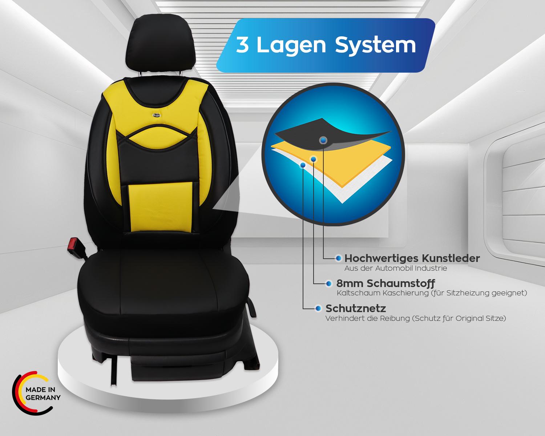 Maß Sitzbezüge Opel Signum Fahrer /& Beifahrer ab 2003-2008 FB:D105