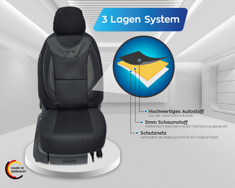 Housses de protection housse de siège Sitzbezüge OPEL ZAFIRA C conducteur /& passager 05