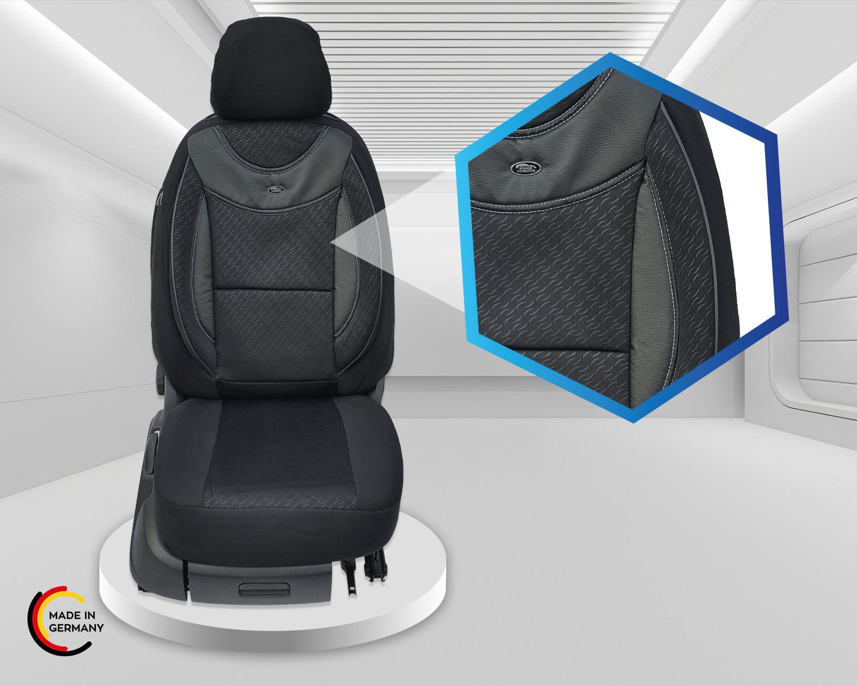 Maß Sitzbezüge Skoda Scala Fahrer /& Beifahrer ab 2019 FB:G102